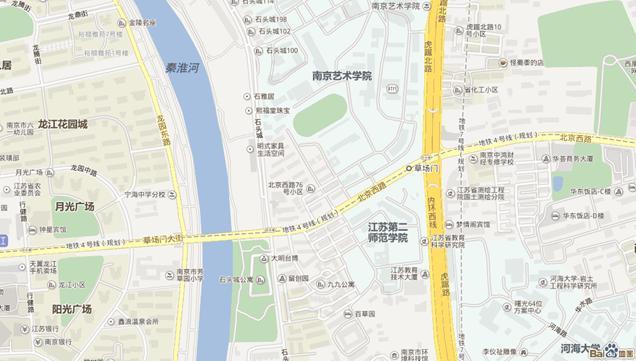江苏第二师范学院草场门校区地图