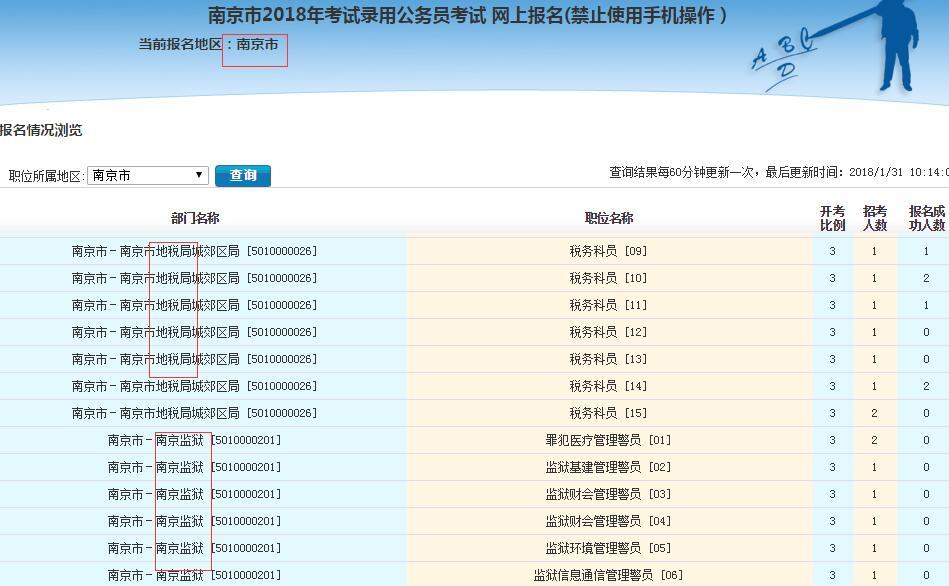 2018年江苏公务员考试监狱戒毒系统、地税在哪报名?