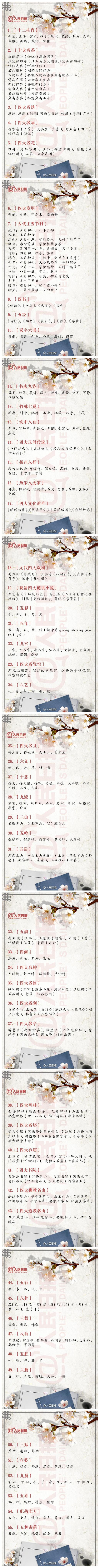 常识积累:55个中国文化常识
